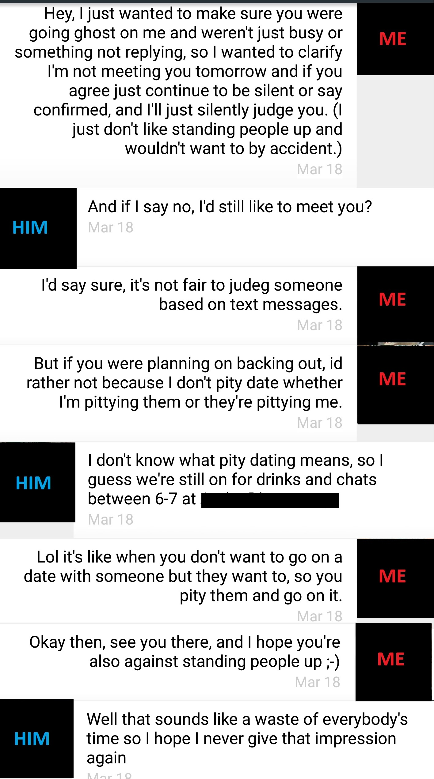 Went on a date but still on dating site